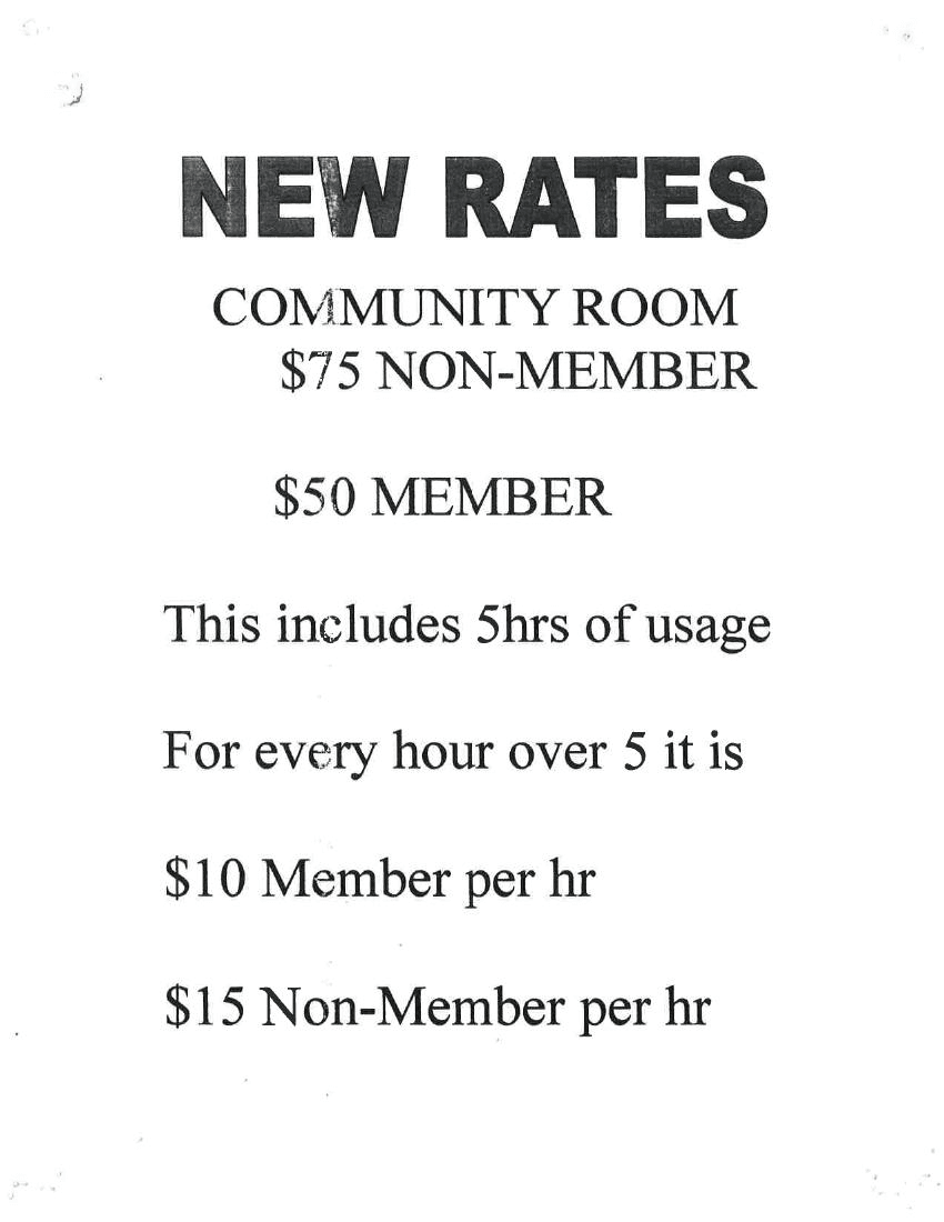 community room rates